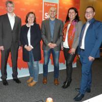 Von links: Dr. Christoph Spaeth, Karoline Schwärzli-Bühler, Can Devrim Kum, Andrea Mickel, Christian De Lapuente