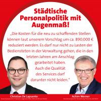 SPD fordert Personalpolitik mit Augenmaß